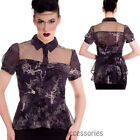 RKP100 Hell Bunny 50s Altaira Spin Doctor Dark Gothic Blouse Victorian Top Punk