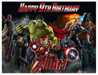 Avengers: Age of U Birthday Edible Image Cake Topper Personalized Frosting Sheet