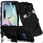 Shock Proof Dual Layer Heavy Duty Case Cover+Stereo Headphones for Samsung
