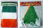 Ireland Irish Flag St Patrick's Day Decoration Bunting 11 Flags/ 25 Pennants