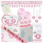 PINK UMBRELLAPHANTS - Ultimate Baby Shower Party Pack,Tableware Decorations Girl