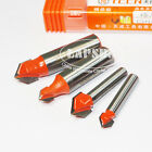 """1/4"""" 1/2"""" Shank Router CNC Engraving Wood Working 3D V Groove Drill Bit Cutter S"""
