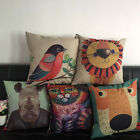 Colorful  Animals Print Cotton Linen Pillow Case Sofa Cushion Cover Home Decor