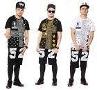Men's Hipster Hip Hop Crewneck Short Sleeve Casual Wear T-shirt Tops Tee Blouse