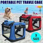 2 Color Pet Soft Crate Portable Dog Cat Carrier Travel Cage Kennel Folding Large