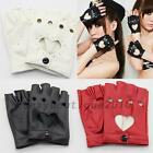 Fashion Half Finger Driving dance Women 1 Pcs PU Leather Fingerless Gloves New