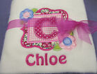 Personalised Embroidered Baby Girl Fleece Blanket Newborn Gift With Babies Name