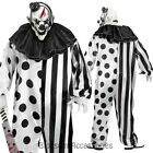 CL774 Killer Circus Clown Costume Mens Halloween Horror Scary Pennywise + Mask