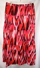 Women's Jones New York Sport Long Skirt Pink Orange Brown Tie-Dye NWT