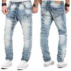 Jeans Herren Hose Denim Vintage Clubwear Destroyed Verwaschen Used Look Harem