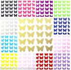 25 X Butterfly Vinyl Stickers - Glitter Wine Glass Walls Mirrors Mug Laptop Cup