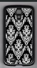 L@@K! Classic Inverted White on Black Damask cell phone or iPod case or wallet!