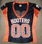 """BRAND NEW HOOTERS GIRL """"00"""" BLACK FOOTBALL JERSEY 100% AUTHENTIC XXS - L"""