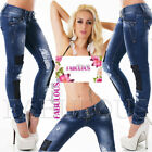Women's Distressed Ripped Slim Skinny Leg Jeans Size 6 8 10
