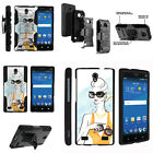 FOR SAMSUNG GALAXY PHONES CASE RUGGED ARMOR HYBRID HOLSTER -  Luxurious Lady