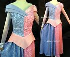 P740 sleeping beauty Cosplay Costume princesss women blue and pink