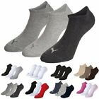 Puma Sports Socks Invisible Sneakers Plain/Mix (3 Pair Packs) UK Size 2.5 to 14