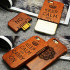 "Real Natural Bamboo Wood Wooden Hard Case Cover Shell for iPhone 6S 4.7"" 5.5"""