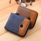 Men's Fashion Wallet Canvas ID Credit Card Holder Men Clutch Billfold Purse New