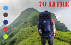 70L Outdoor Travel Backpack Mountain Climbing Knapsack Bag 4 Colour