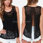 Women Fashion Summer Vest Top Sleeveless Blouse Casual Tank Tops T-Shirt Lace