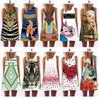 Sexy Women Sleeveless Summer Casual Party Evening Cocktail Floral Mini Dress NEW