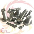 M6 Socket Button Head Screw - A2 Stainless Steel - Hex Allen Socket - Dome -6mm