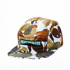 Mighty Healthy Fallen Leaf Autumn Fashion Skate Men's 5 Panel Cap Brown Beige
