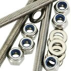 M5 A2 Stainless Steel Threaded Bar - Rod Studding 5mm + Nyloc Nuts + Washers