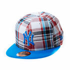 New Era Plaid Pop Snapshot Blue 59FIFTY Fitted Cap