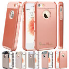 Hybrid Rugged Rubber Hard TPU Shockproof Case Cover for Apple iPhone SE 5 5s