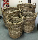 GLENWEAVE ROUND HEAVY DUTY LOG BASKET - WOVEN, WILLOW. VARIOUS SIZES