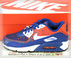 Nike Kide Air Max 90 PREM Mesh GS Blue Red 724882-401 US 4~7Y Running Shoes