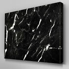 AB1023 Modern White Stroke Black Canvas Wall Art Abstract Picture Large Print