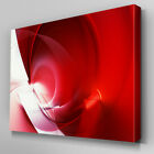 AB1030 Modern Red White Ripple Canvas Wall Art Abstract Picture Large Print