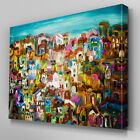 AB670 Modern multi colour blue pink Canvas Wall Art Abstract Picture Large Print