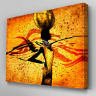 AB739 Tribal african woman orange Canvas Wall Art Abstract Picture Large Print