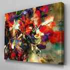 AB832 Modern floral flower red  Canvas Wall Art Abstract Picture Large Print