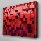 AB864 Modern dark red pattern box Canvas Wall Art Abstract Picture Large Print