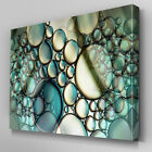 AB937 Modern blue teal bubble green Canvas Wall Art Abstract Picture Large Print