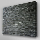 AB992 Modern stone wall Grey xl Canvas Wall Art Abstract Picture Large Print
