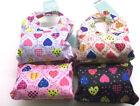 Ladies Pocket Shopper 4 Assorted Mini Heart Print Shopper 74022