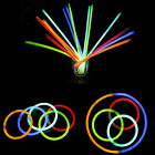 "Lots 8"" Disco Style Colorful Glow Sticks Party Bracelets Necklaces Beautiful Hot"