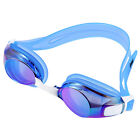 Ipow Anti-fog Mirrored Silicone seal watertight Swim Swimming Goggles  (Blue)