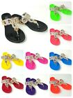 Внешний вид - Women's Rhinestone Thong Flat Jelly Sandals