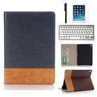 "Apple iPad Pro 12.9""/ 9.7"" Leather Case Card Wallet Folio Smart Cover+Keyhboard"