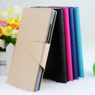For Sony Xperia M2 Aqua D2403 D2406 Wood Vein PU Leather Flip Wallet Case Cover