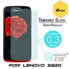 """2x Real Premium Tempered Glass Film Screen Protector Guard For 4.7"""" Lenovo S820"""