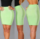 Womens New Sexy Spearmint Green Shimmer Elastic Luxe Pencil Mini Bandage Skirt