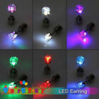 Led Stainless Earrings Colourful Shiny Fashion Pairs Light Party Glowing Crystal